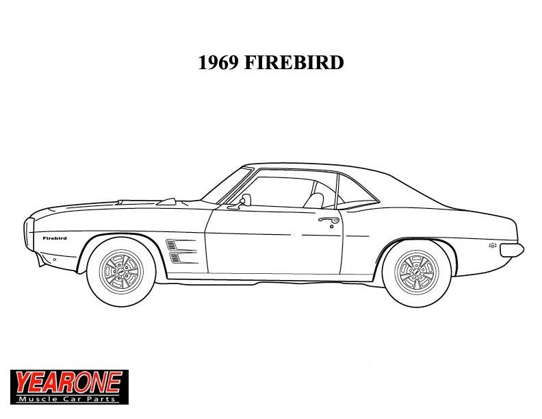 Pontiac Vehicles Drivin It Home 69 Camaro Coloring Pages